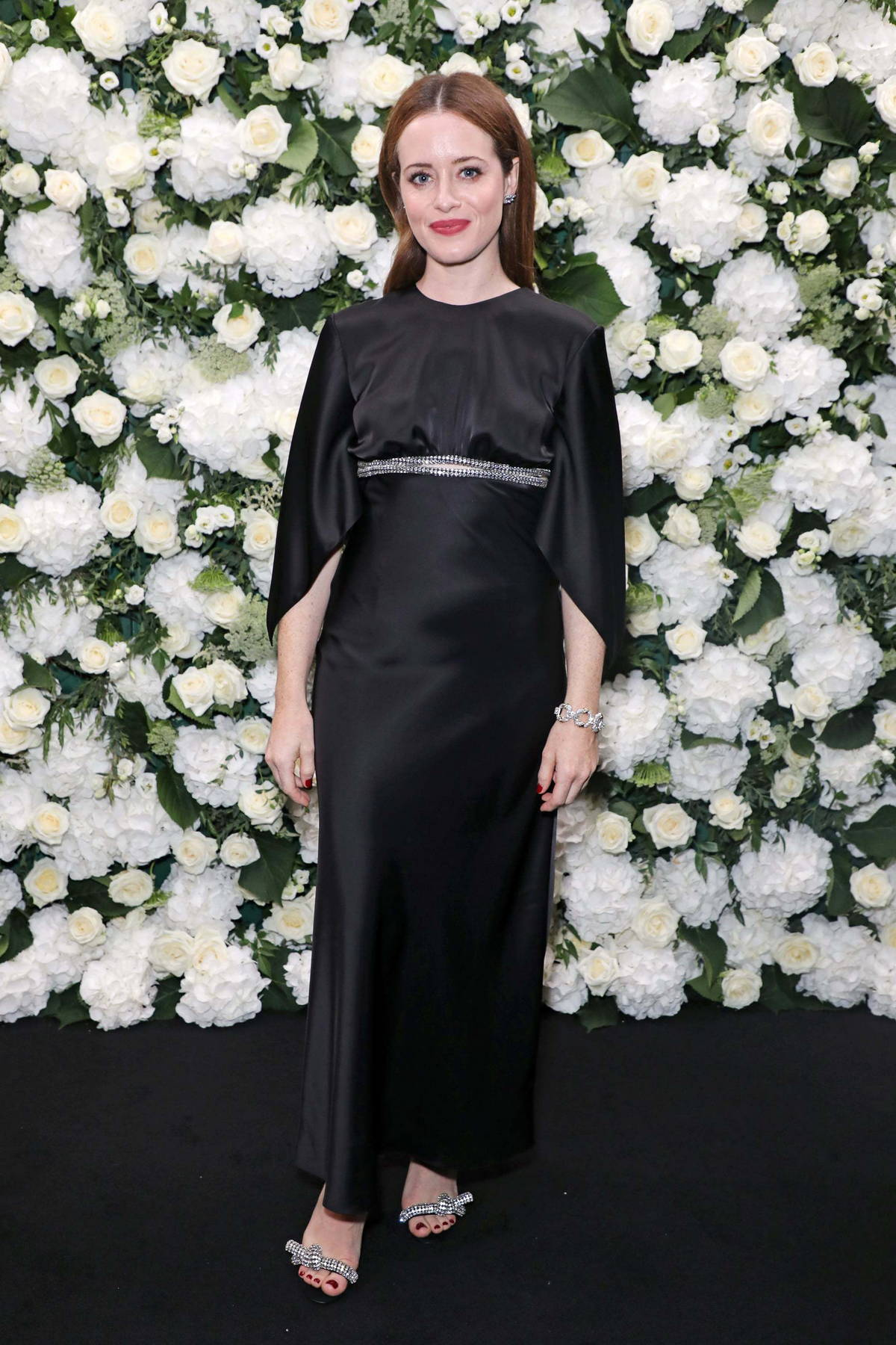 Claire Foy attends The British Vogue x Tiffany & Co Fashion And Film Dinner at The Londoner Hotel in London, UK