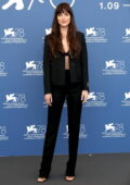 Dakota Johnson attends the photocall of 'The Lost Daughter' during the 78th Venice International Film Festival in Venice, Italy