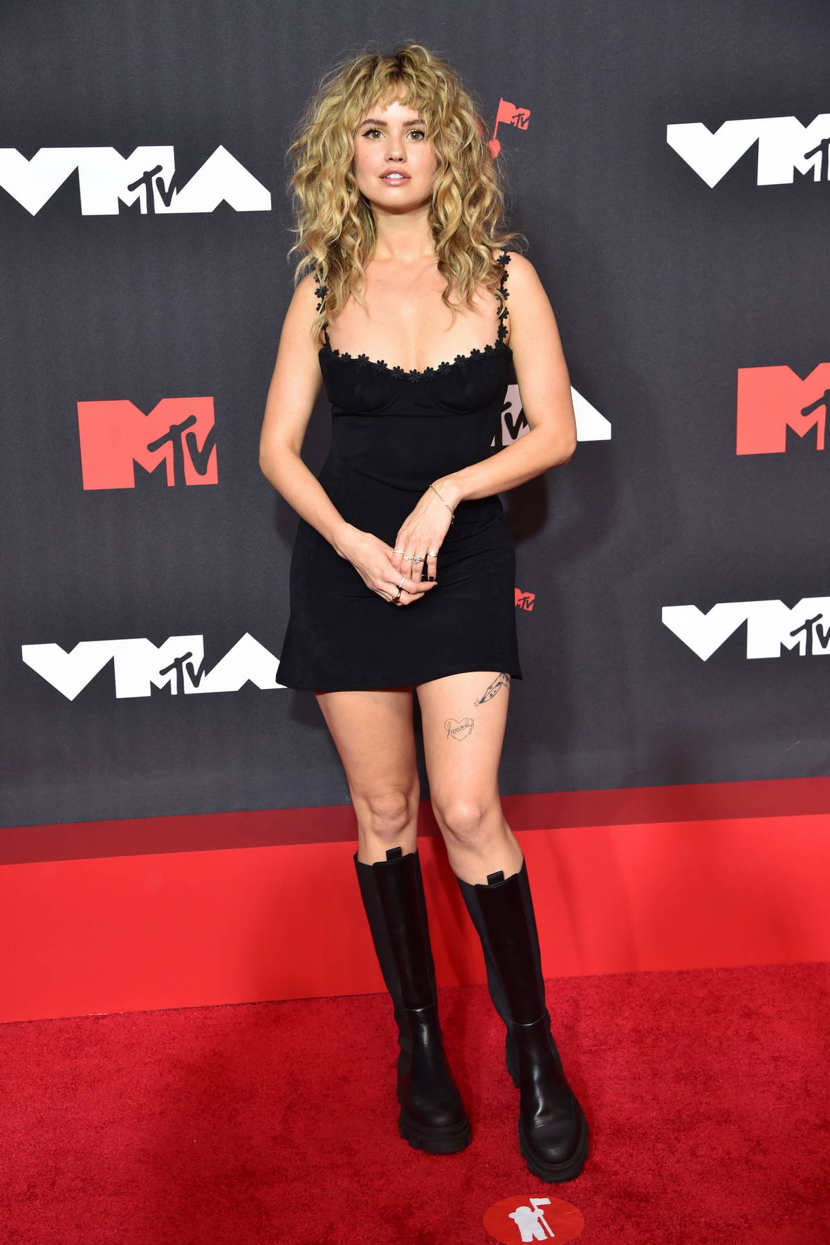 Debby Ryan attends the 2021 MTV Video Music Awards at Barclays Center in Brooklyn, New York City