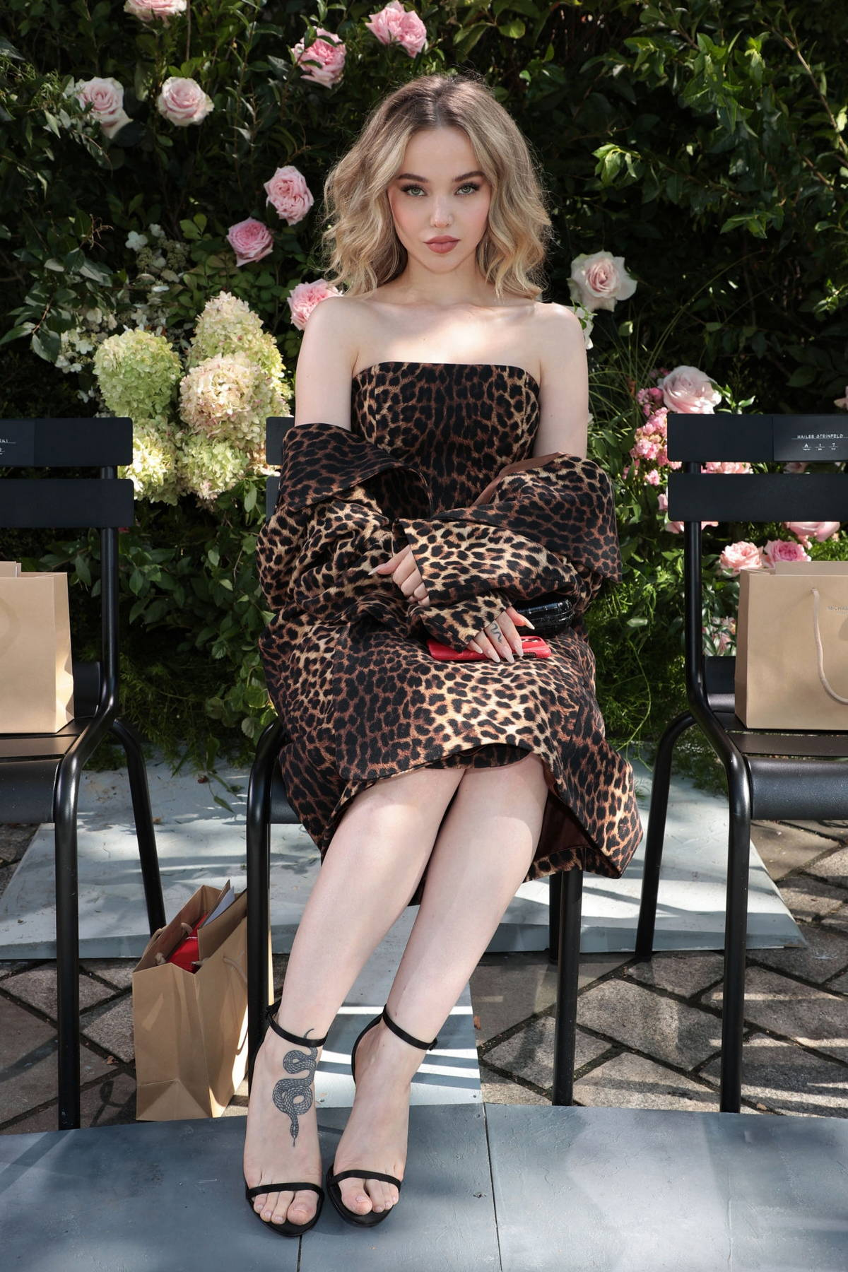 Dove Cameron attends the Michael Kors SP22 fashion show during New York Fashion Week in New York City