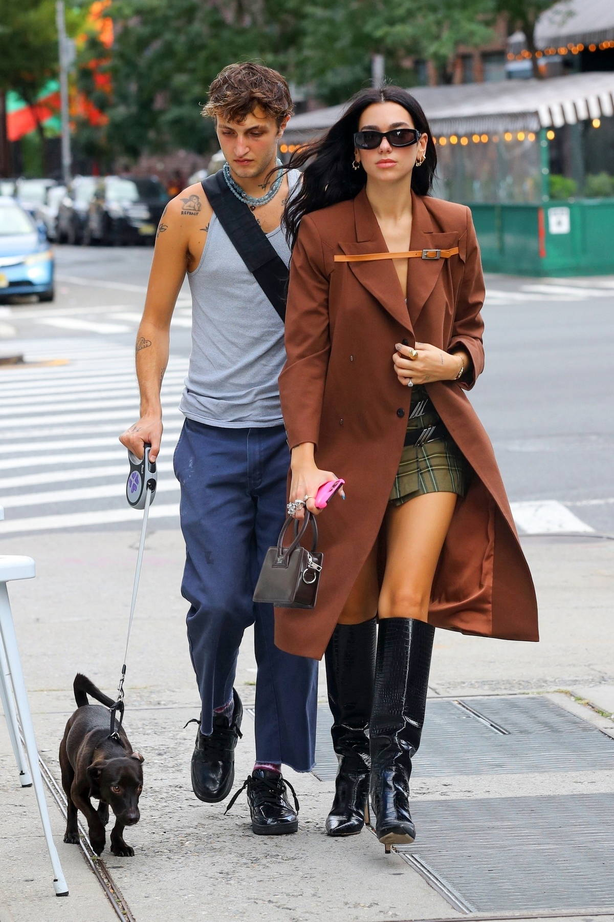 Dua Lipa puts on a stylish display while stepping out for lunch with Anwar and Yolanda Hadid in New York City