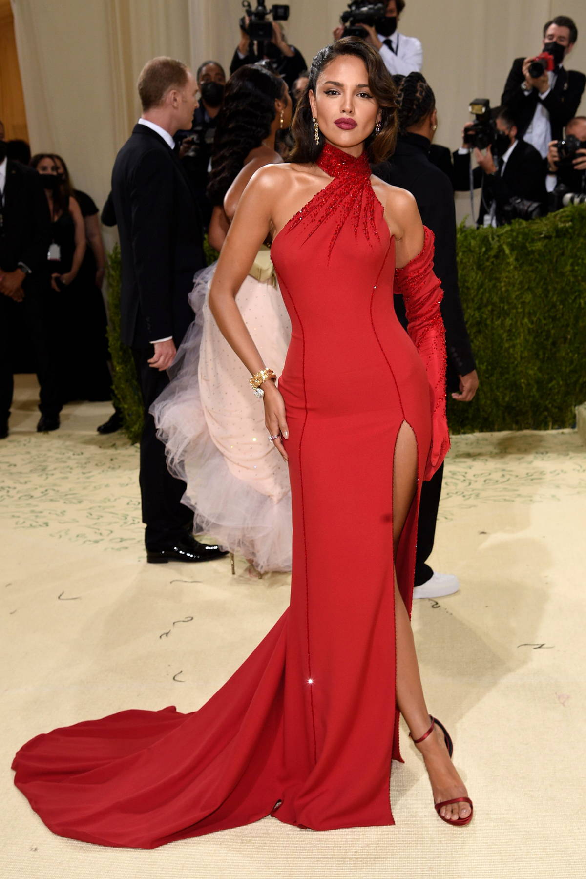 Eiza Gonzalez attends The Met Gala Celebrating In America: A Lexicon Of Fashion at Metropolitan Museum of Art in New York City