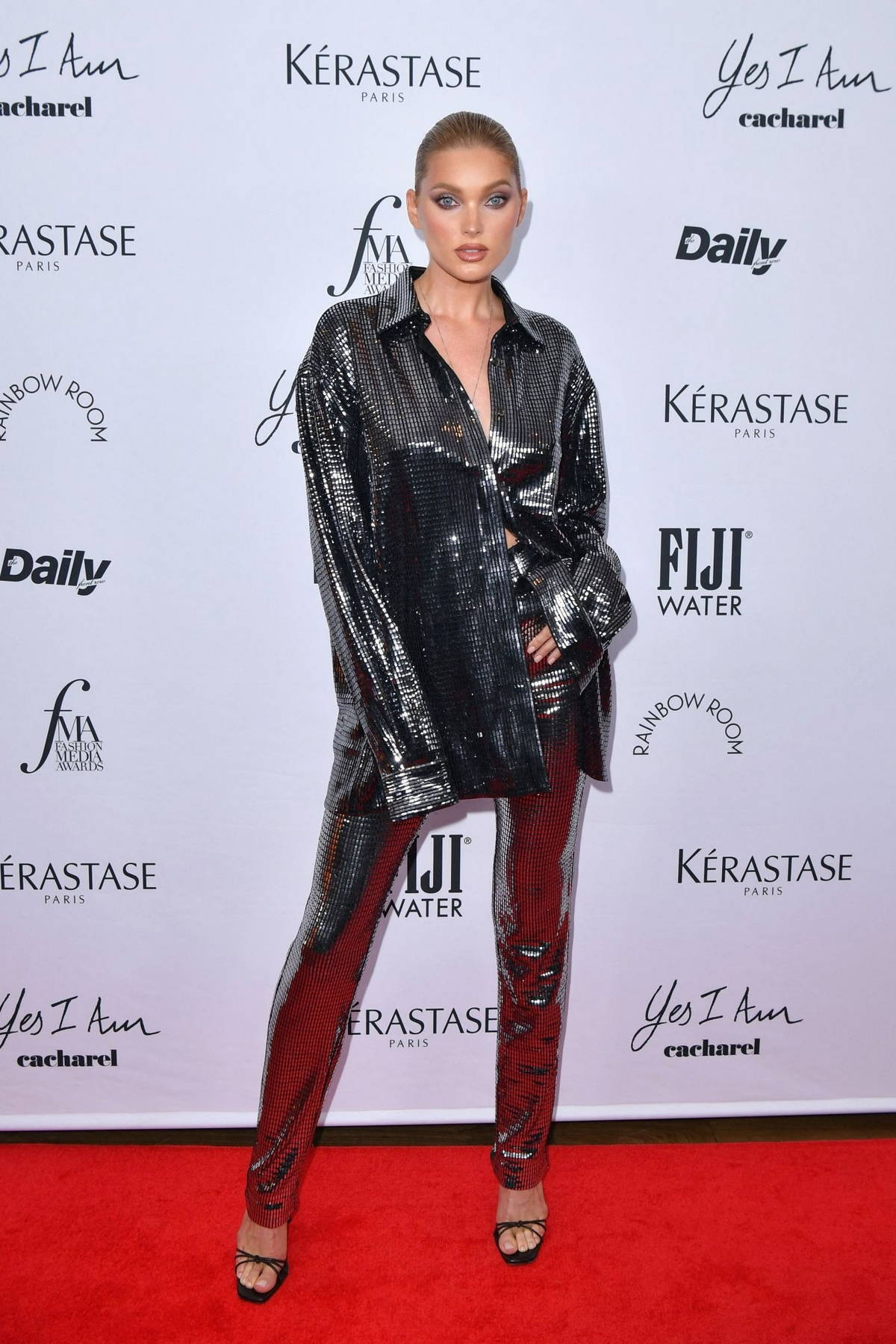 Elsa Hosk attends the 2021 Daily Front Row Fashion Media Awards in New York City