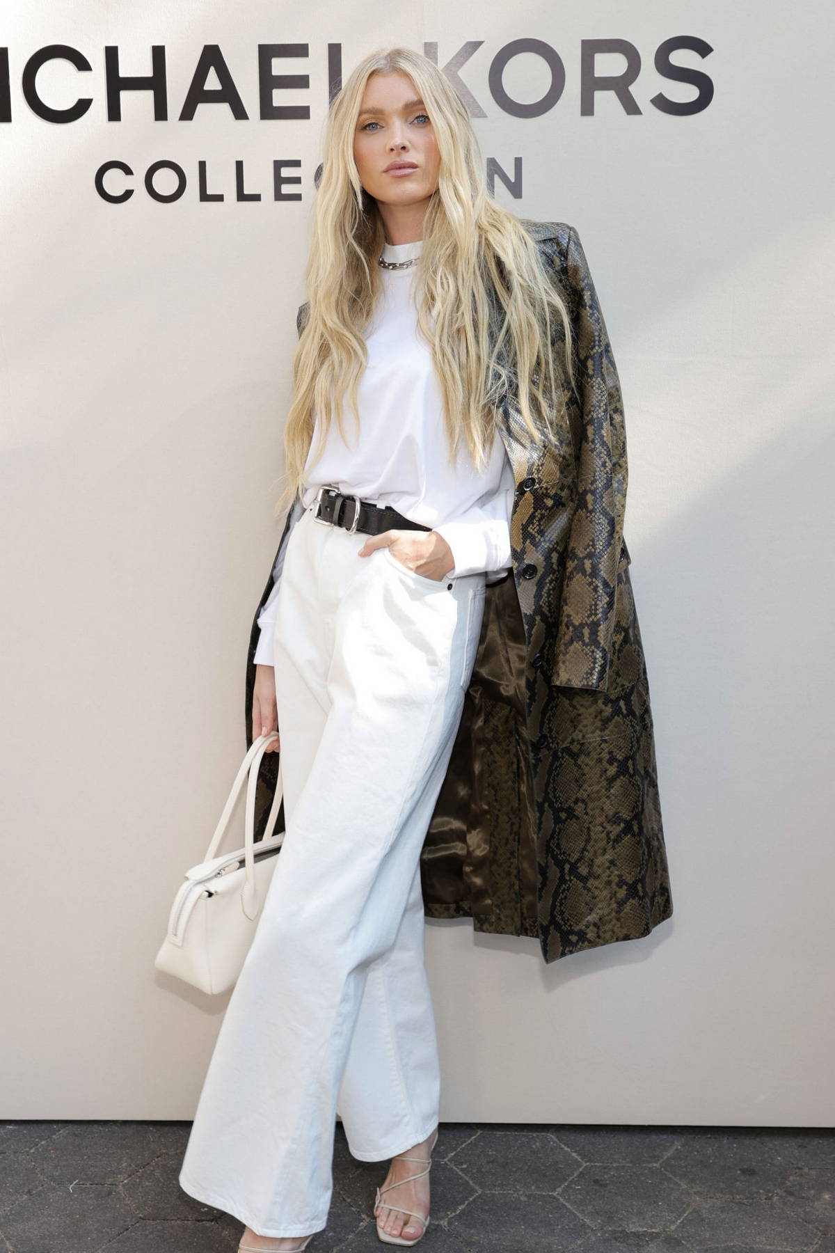Elsa Hosk attends the Michael Kors SP22 fashion show during New York Fashion Week in New York City
