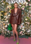 Elsa Hosk attends the Revolve Gallery inaugural event during New York Fashion Week at Hudson Yards in New York City