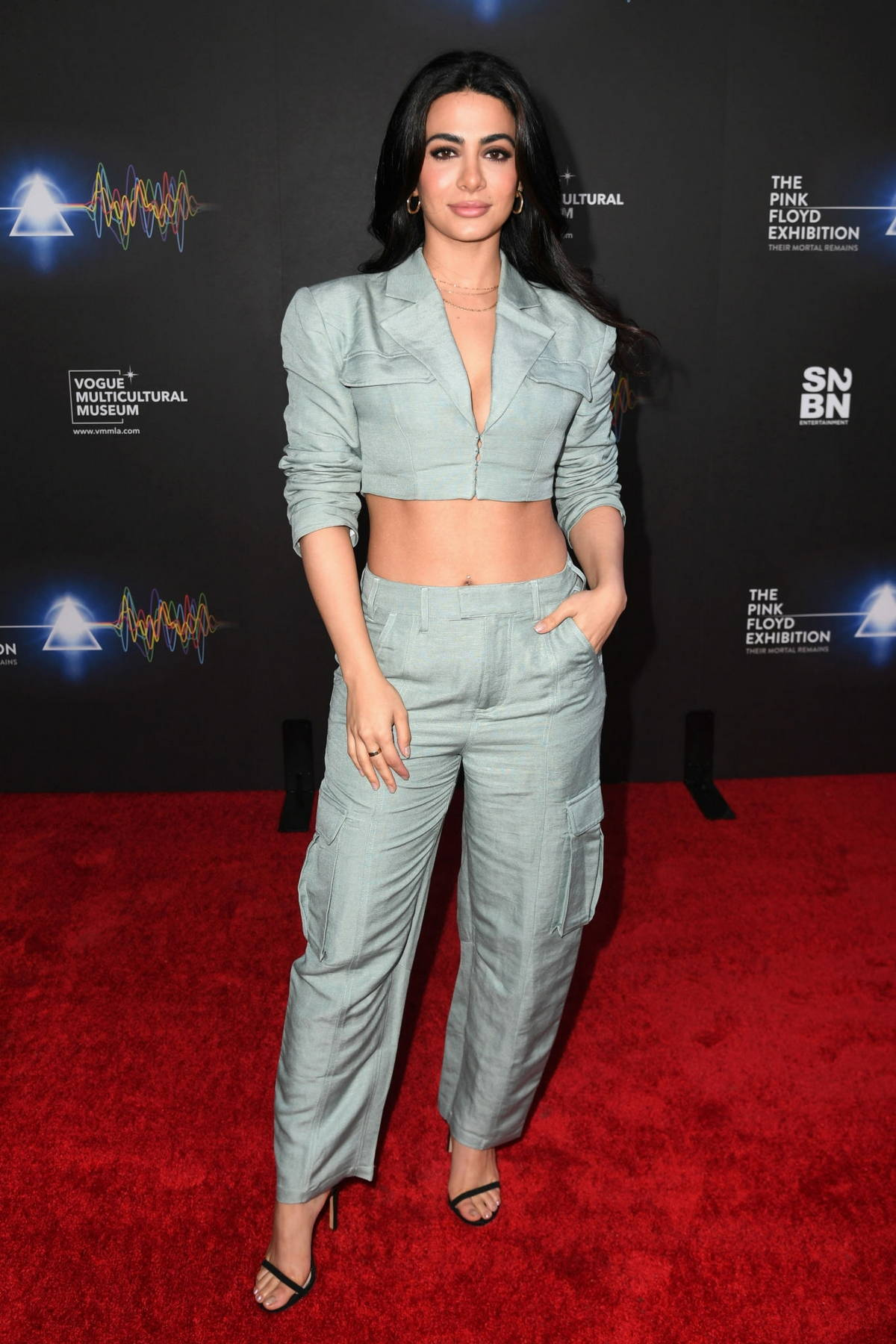 Emeraude Toubia attends the Grand Opening of 'The Pink Floyd Exhibition: Their Mortal Remains' in Los Angeles