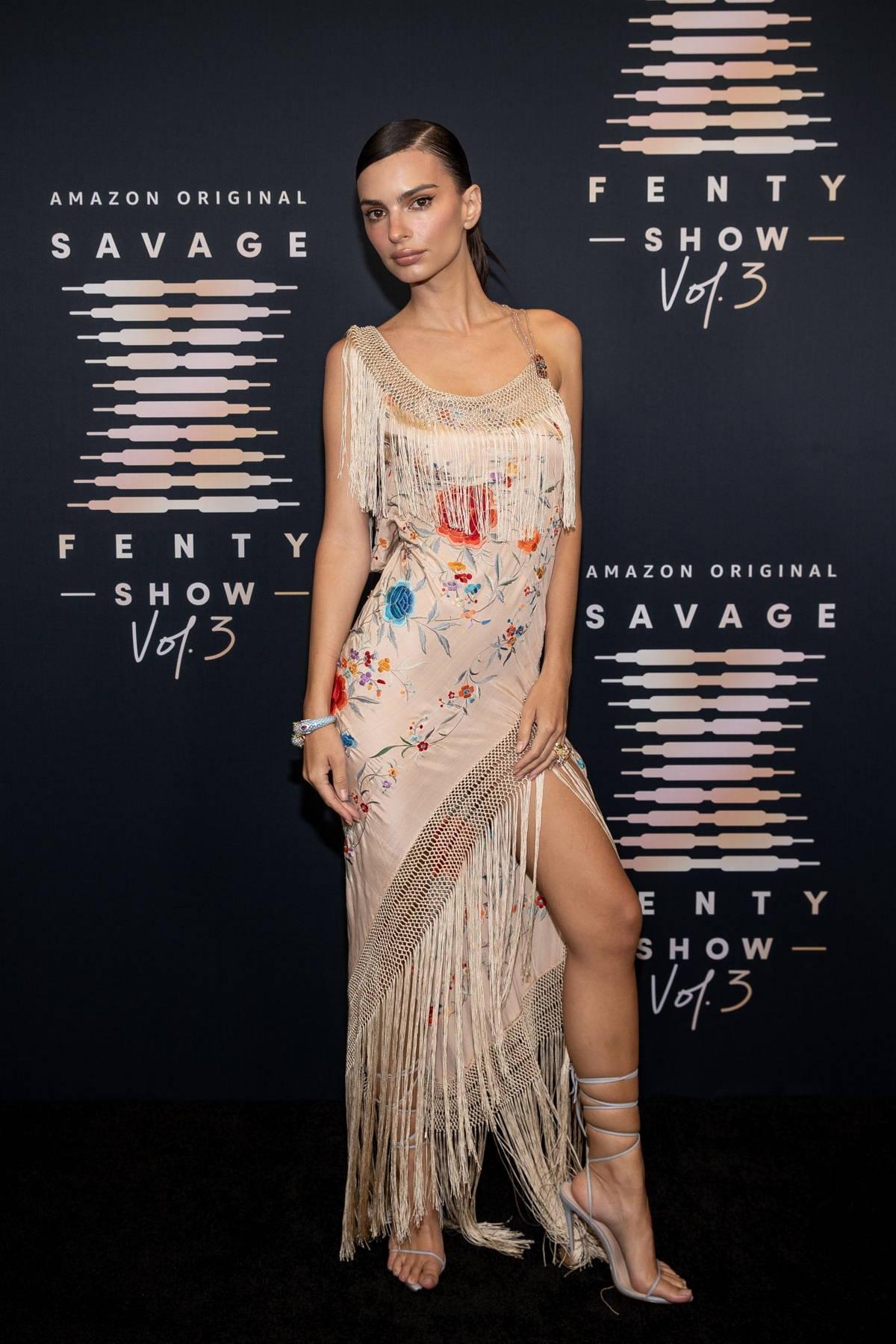 Emily Ratajkowski attends the Savage x Fenty Show Vol 3 in Los Angeles