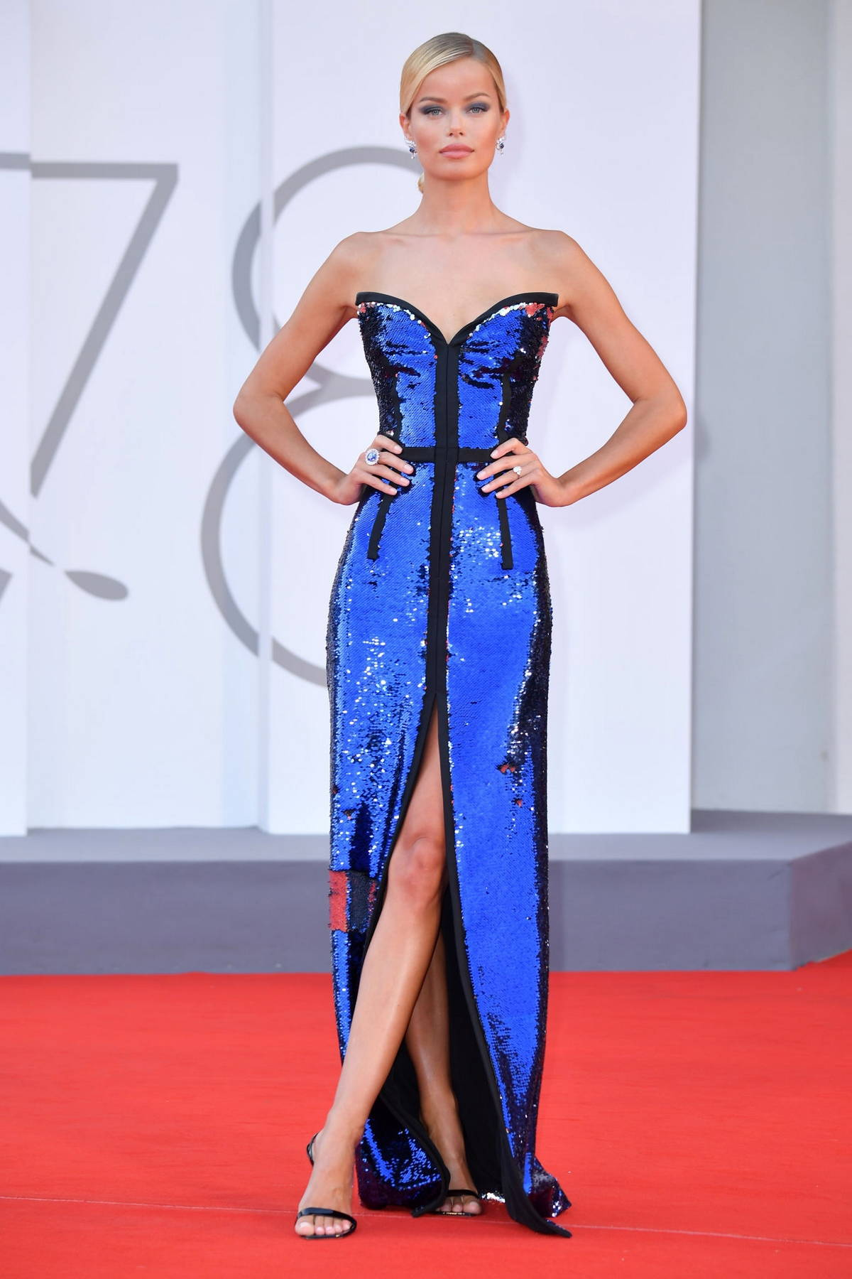 Frida Aasen attends the Premiere of 'Un Autre Monde' during the 78th Venice International Film Festival in Venice, Italy