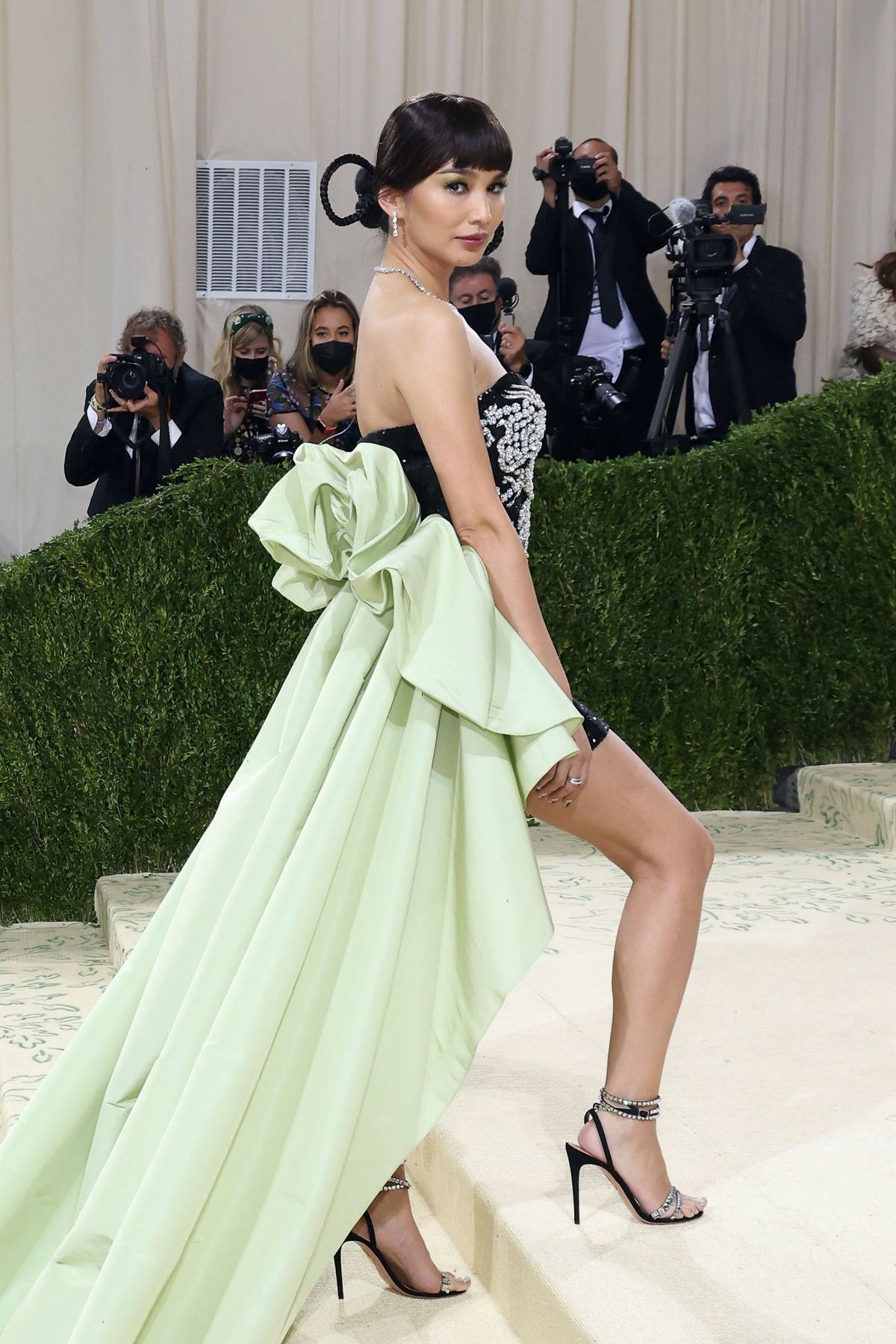 Gemma Chan attends The Met Gala Celebrating In America: A Lexicon Of Fashion at Metropolitan Museum of Art in New York City