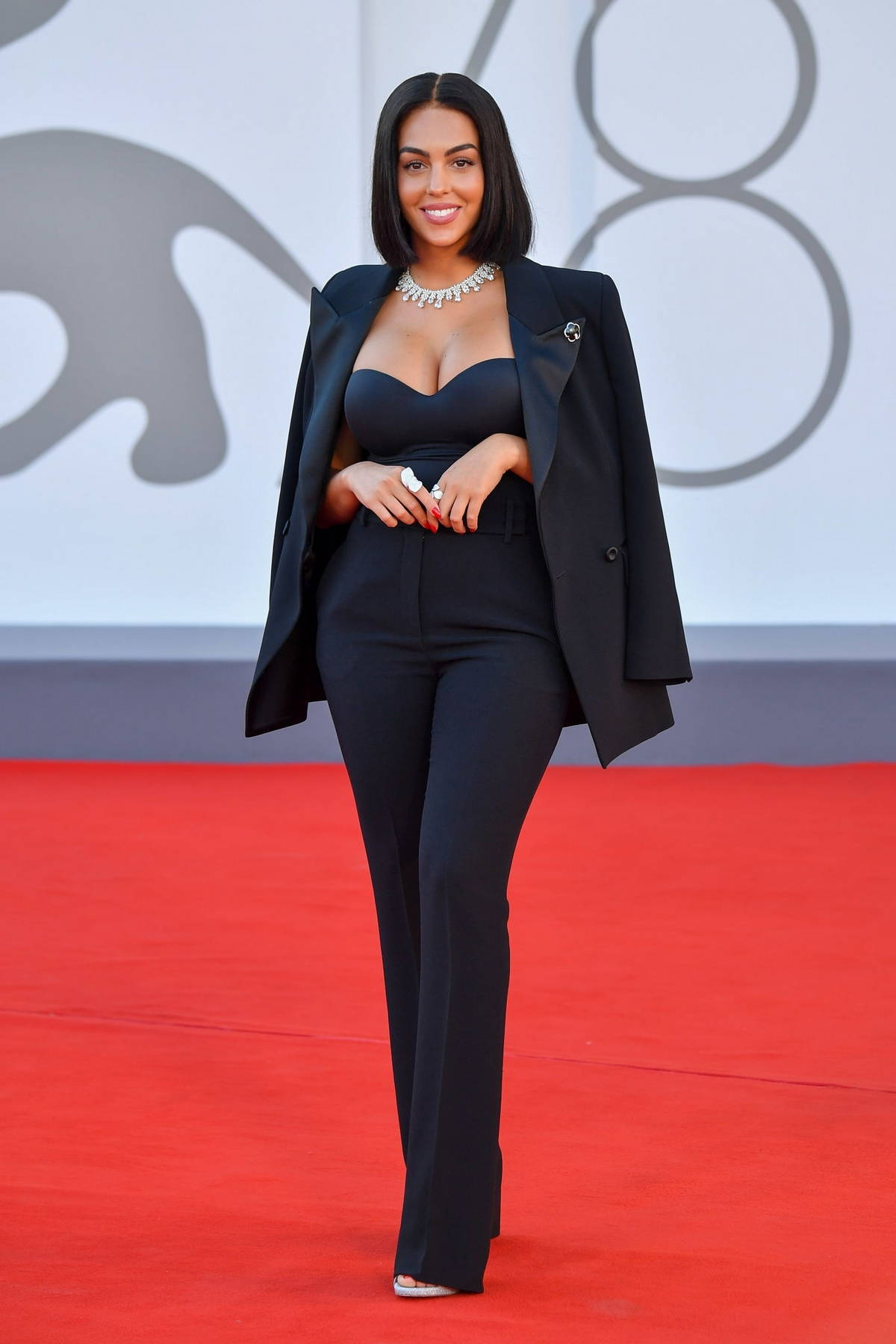 Georgina Rodriguez attends the Premiere of 'Madres Paralelas' during the 78th Venice International Film Festival in Venice, Italy