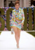 Gigi Hadid walks the runway for Moschino Spring-Summer 2022 show during the New York Fashion Week in New York City