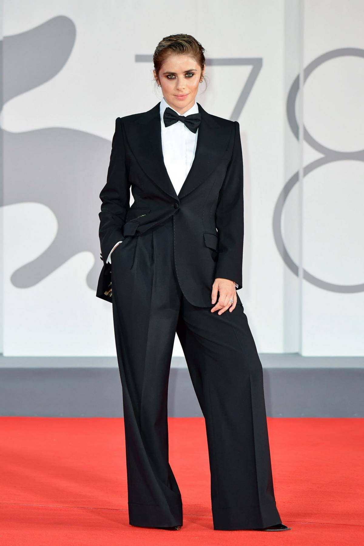 Greta Scarano attends the 'Filming Italy Movie Award' during the 78th Venice International Film Festival in Venice, Italy