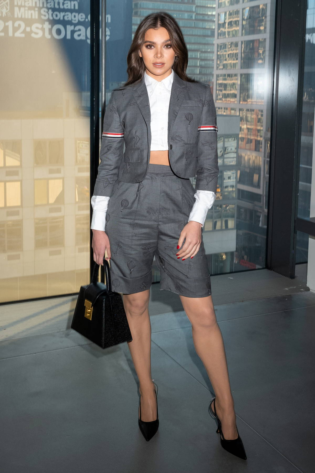 Hailee Steinfeld attends the Thom Browne fashion show during New York Fashion Week in New York City