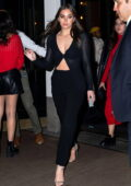 Hailee Steinfeld looks stylish in all-black while attending a fashion week party during NYFW at Cipriani in New York City