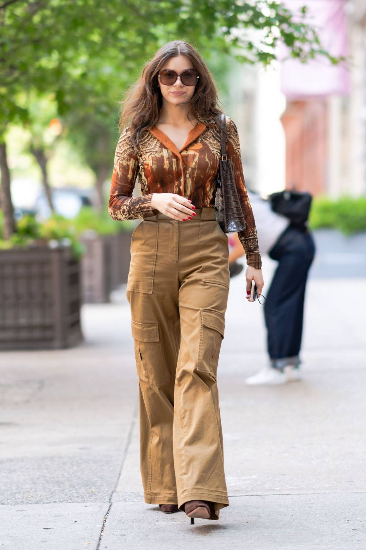 Hailee Steinfeld puts on a stylish display while stepping out for a stroll in SoHo, New York City
