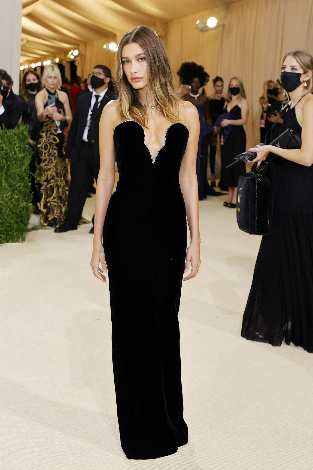 Hailey Bieber attends The Met Gala Celebrating In America: A Lexicon Of Fashion at Metropolitan Museum of Art in New York City