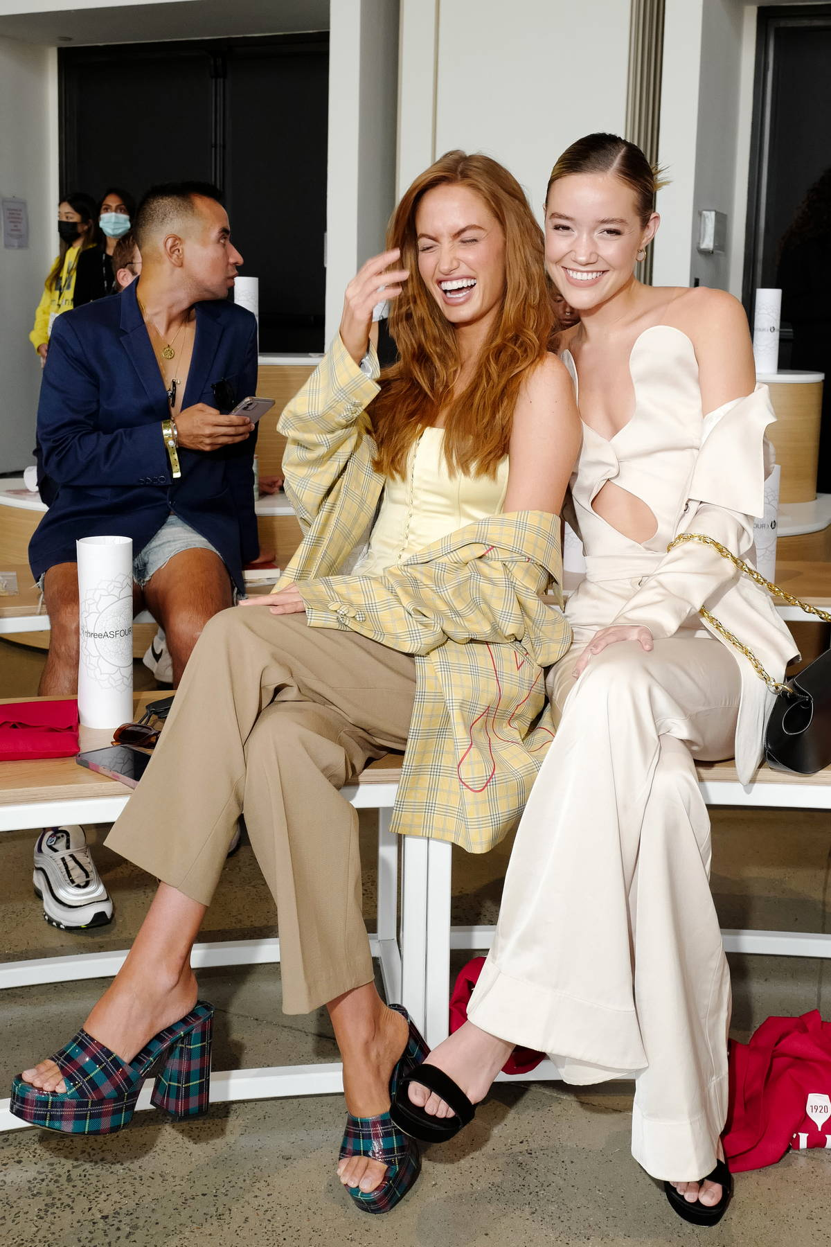 Haley Kalil and Olivia Ponton attend ThreeASFOUR during New York Fashion Week in New York City