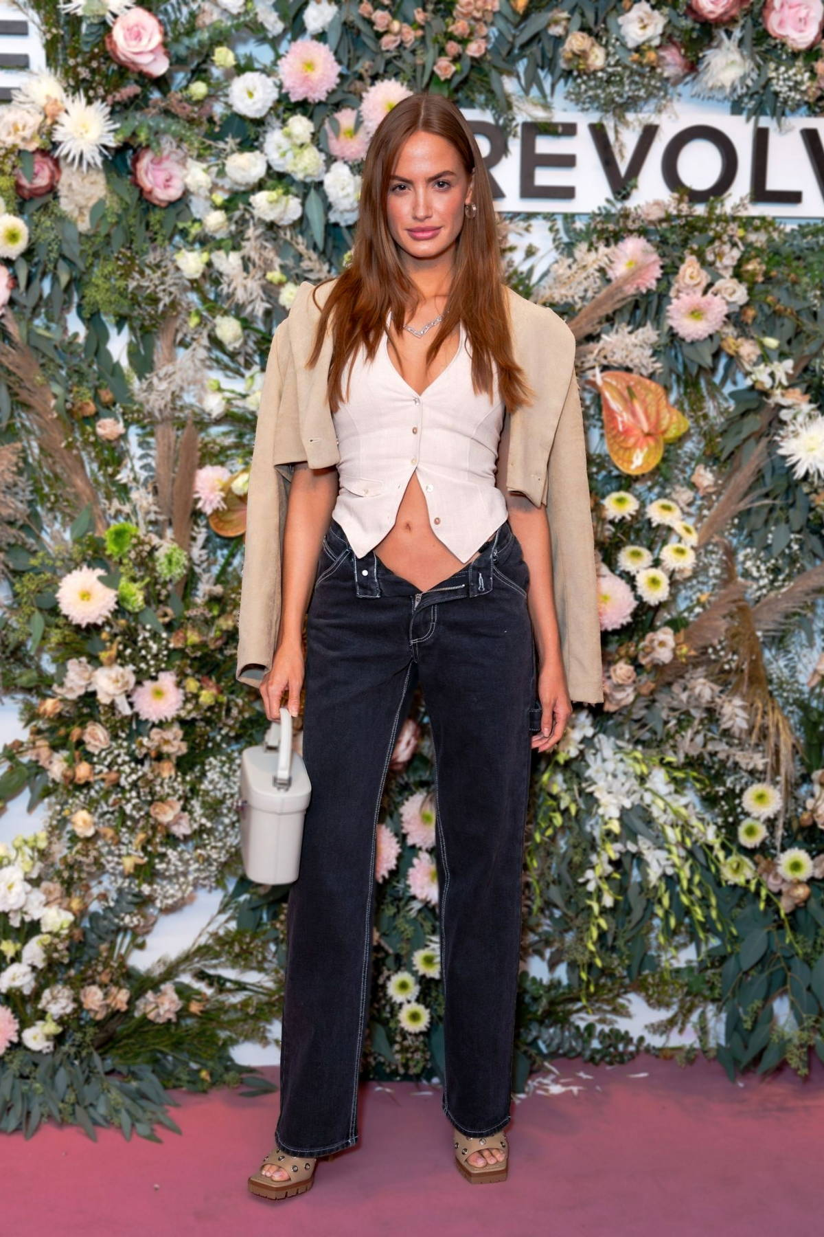 Haley Kalil attends the Revolve Gallery inaugural event during New York Fashion Week at Hudson Yards in New York City