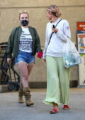 Hayden Panettiere makes a stop at a grocery store with a girlfriend in Brentwood, California