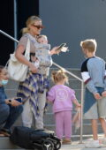 Hilary Duff seen out and about with her 3 kids in New York City