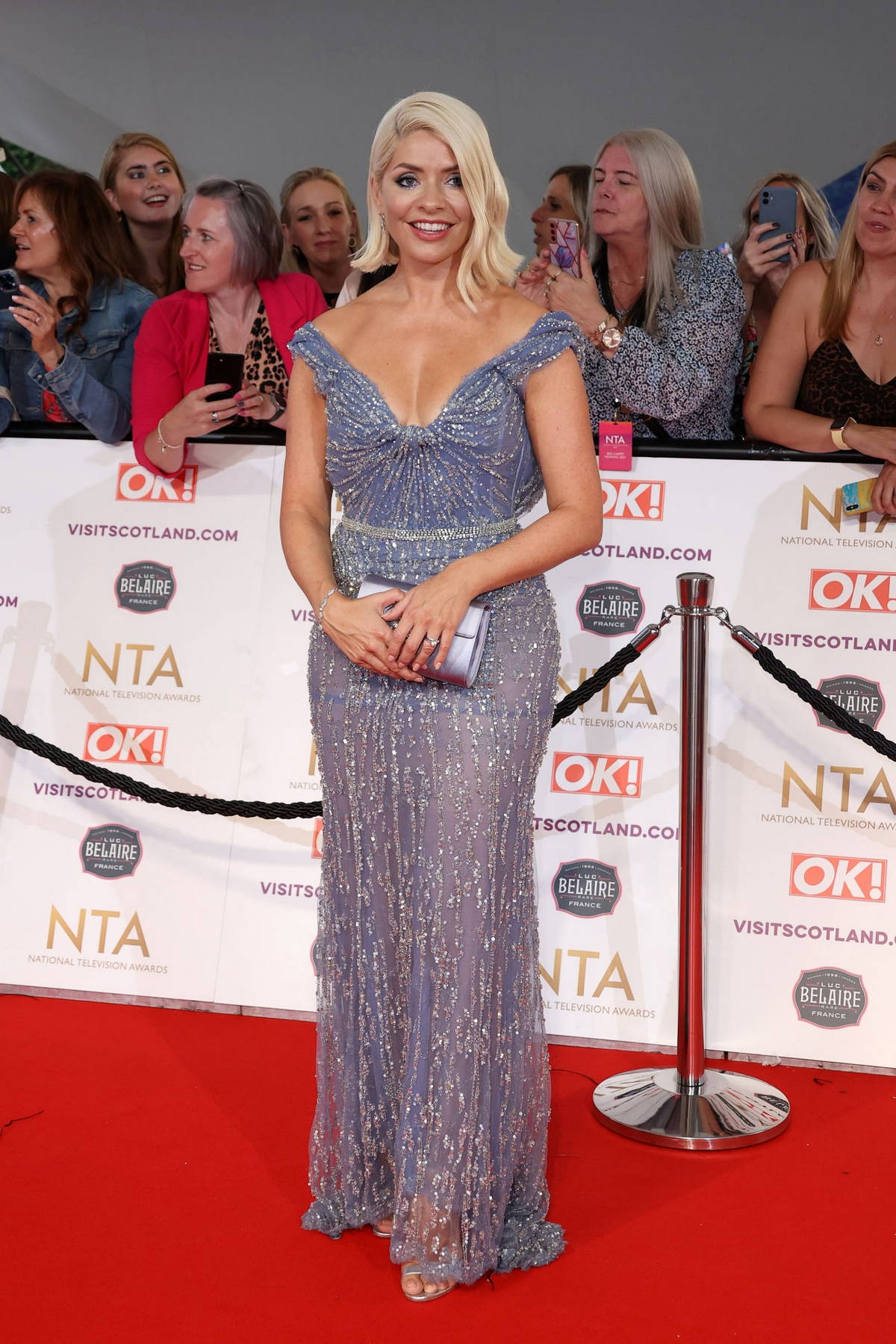 Holly Willoughby attends the 2021 National Television Awards at The O2 Arena in London, UK