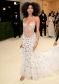 Imaan Hammam attends The Met Gala Celebrating In America: A Lexicon Of Fashion at Metropolitan Museum of Art in New York City