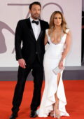 Jennifer Lopez and Ben Affleck attend the Premiere of 'The Last Duel' during the 78th Venice International Film Festival in Venice, Italy