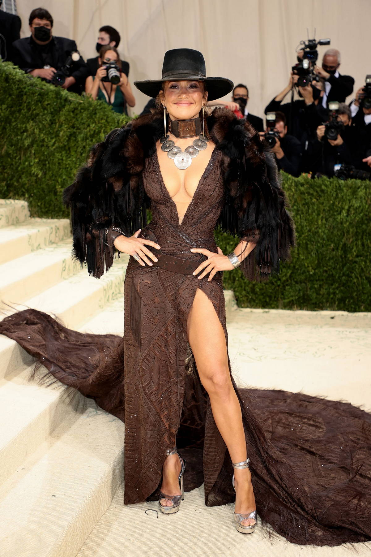 Jennifer Lopez attends The Met Gala Celebrating In America: A Lexicon Of Fashion at Metropolitan Museum of Art in New York City