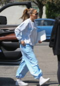 Jennifer Lopez keeps it cozy in oversized sweats while heading for a studio session in Los Angeles