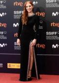 Jessica Chastain attends the Premiere of 'The Eyes of Tammy Faye' during San Sebastian International Film Festival in San Sebastian, Spain