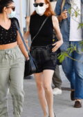 Jessica Chastain dressed in all-black spotted with husband Gian Luca Passi at the airport in Venice, Italy