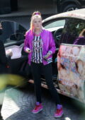 JoJo Siwa hits up 'In N Out' in her custom wrapped Tesla in Los Angeles