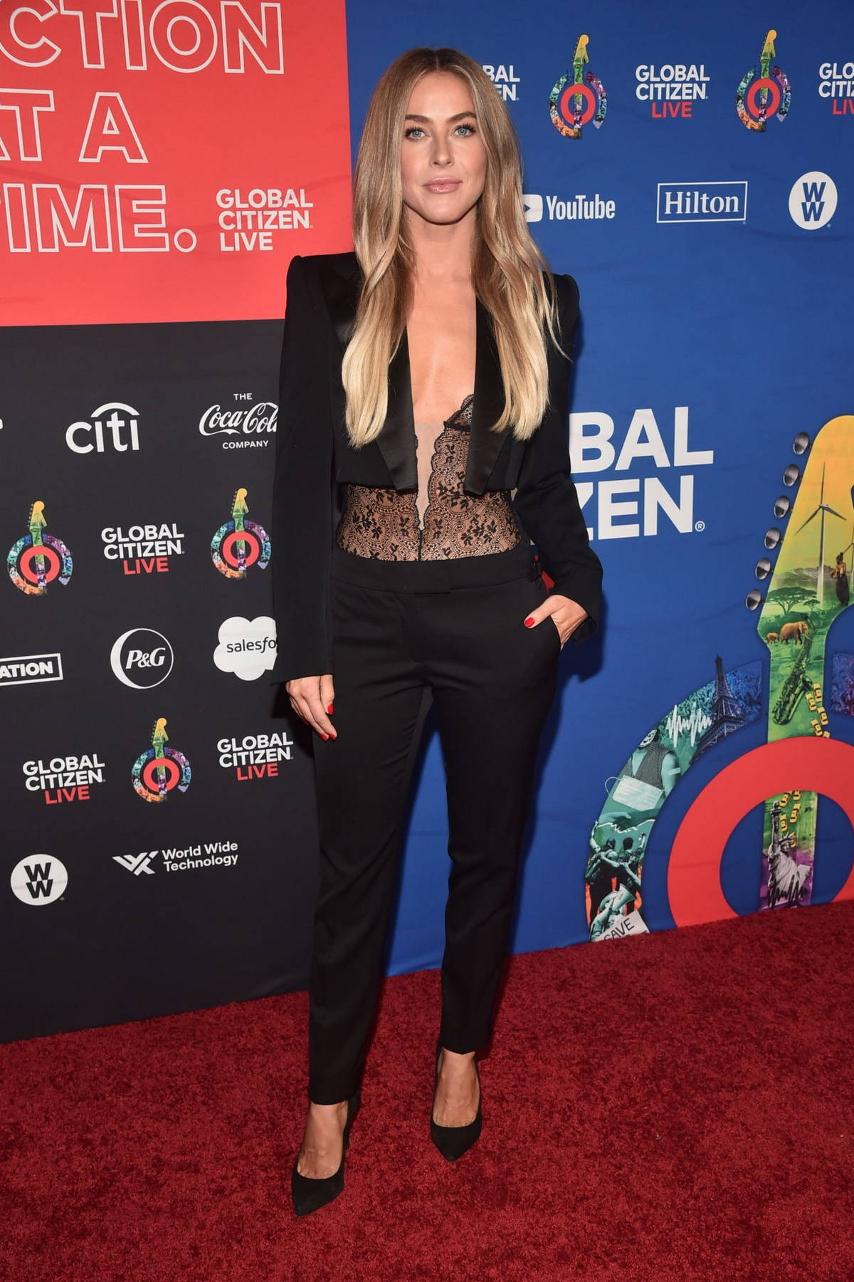 Julianne Hough attends the 2021 Global Citizen Live in Los Angeles