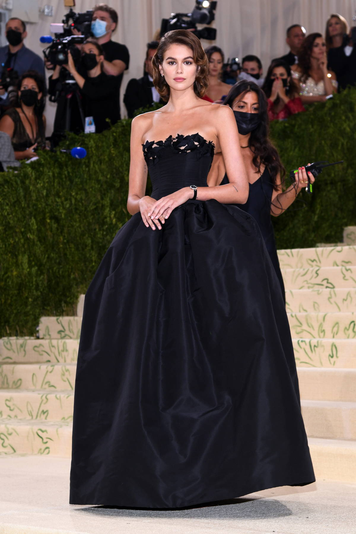 Kaia Gerber attends The Met Gala Celebrating In America: A Lexicon Of Fashion at Metropolitan Museum of Art in New York City