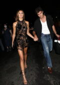 Kaia Gerber stuns in a sheer lace dress as she and Jacob Elordi head to a Met Gala after-party in New York City