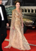 Kate Middleton attends the World Premiere of 'No Time To Die' at the Royal Albert Hall in London, UK