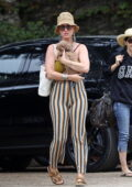 Katy Perry looks cute as she takes her pooch and daughter Daisy Dove to the beach in Santa Barbara, California