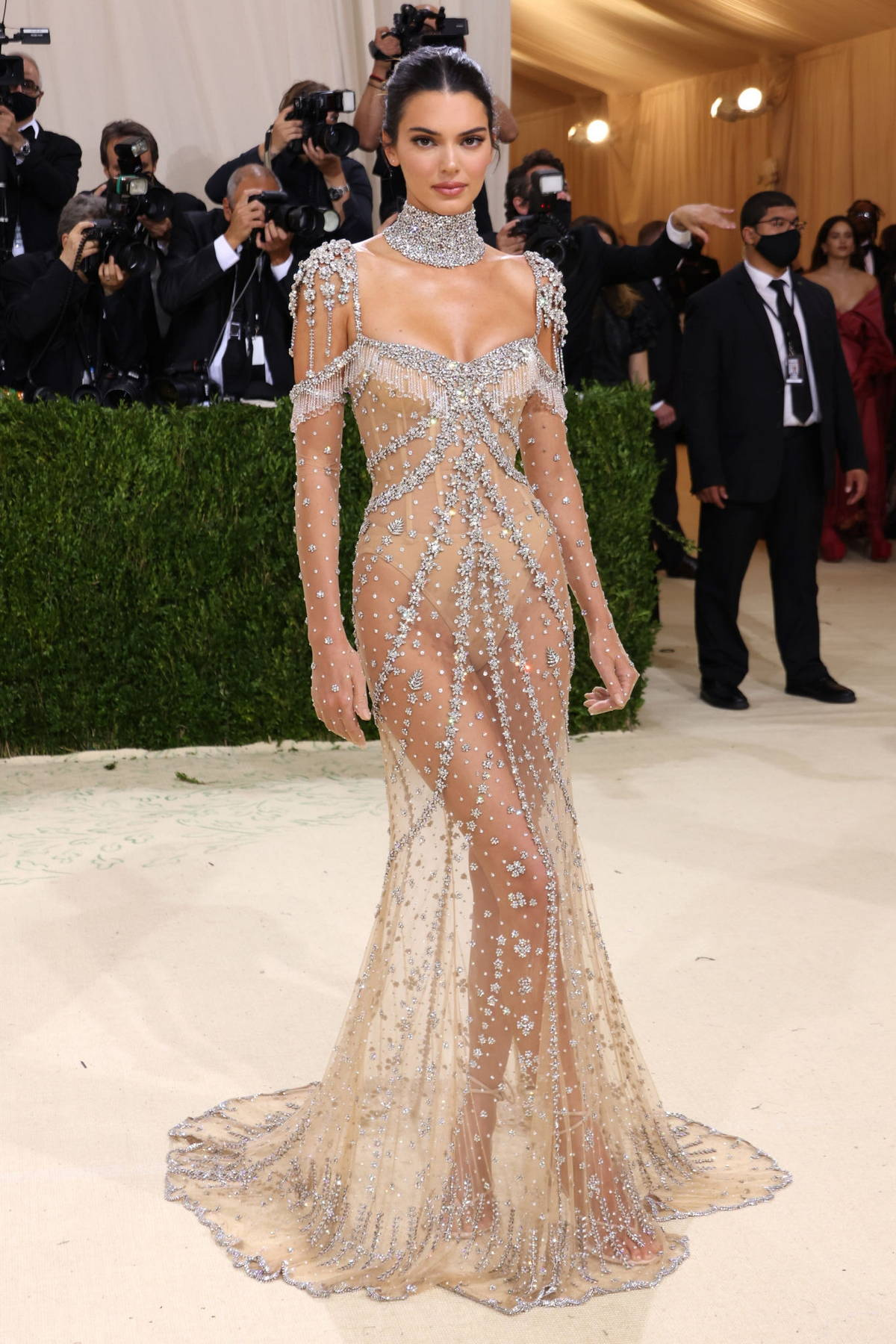 Kendall Jenner attends The Met Gala Celebrating In America: A Lexicon Of Fashion at Metropolitan Museum of Art in New York City