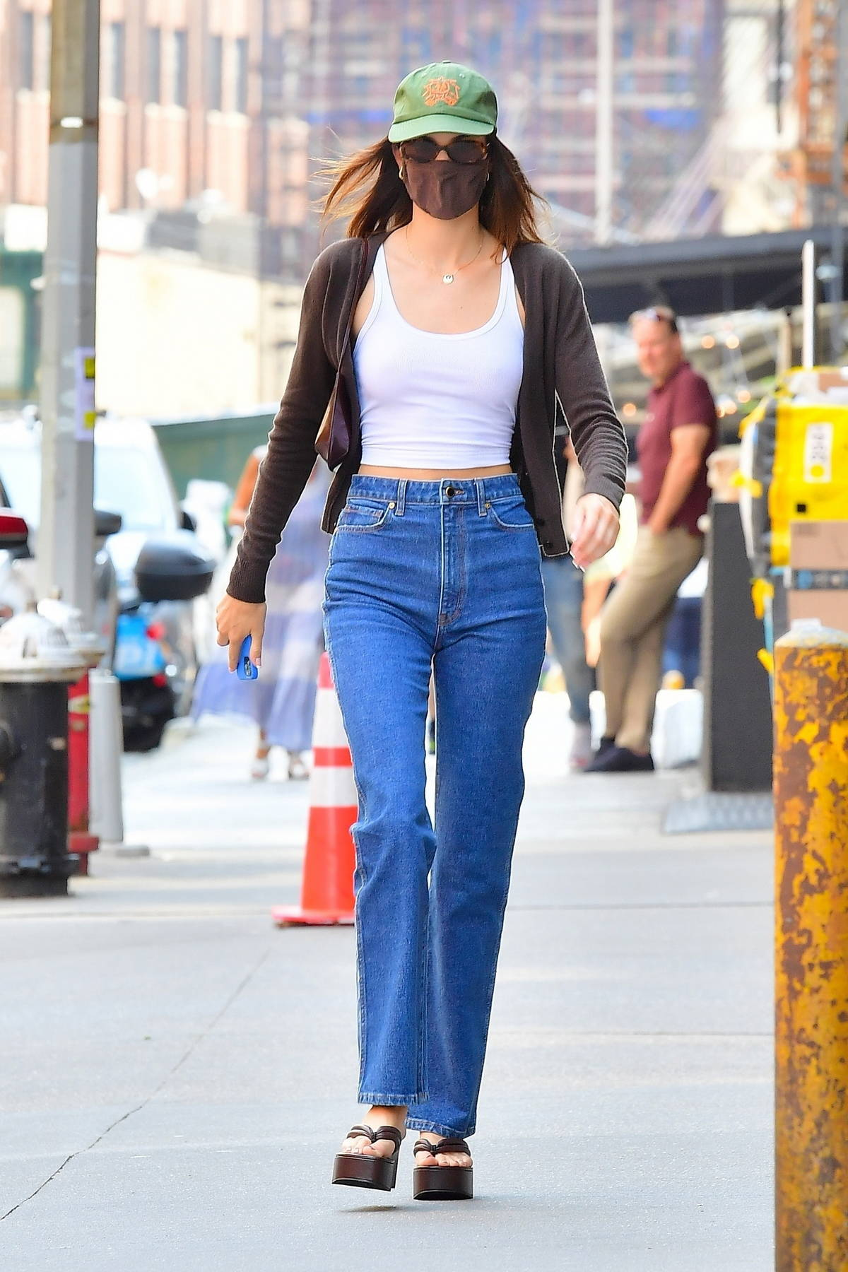 Kendall Jenner keeps it casual in denim as she steps out for lunch in New York City