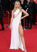 Kimberley Garner attends the World Premiere of 'No Time To Die' at the Royal Albert Hall in London, UK
