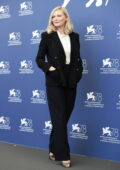 Kirsten Dunst attends the photocall of 'The Power Of The Dog' during the 78th Venice International Film Festival in Venice, Italy