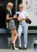 Kristen Stewart and girlfriend Dylan Meyer enjoy a stroll while out for some iced coffee in New York City