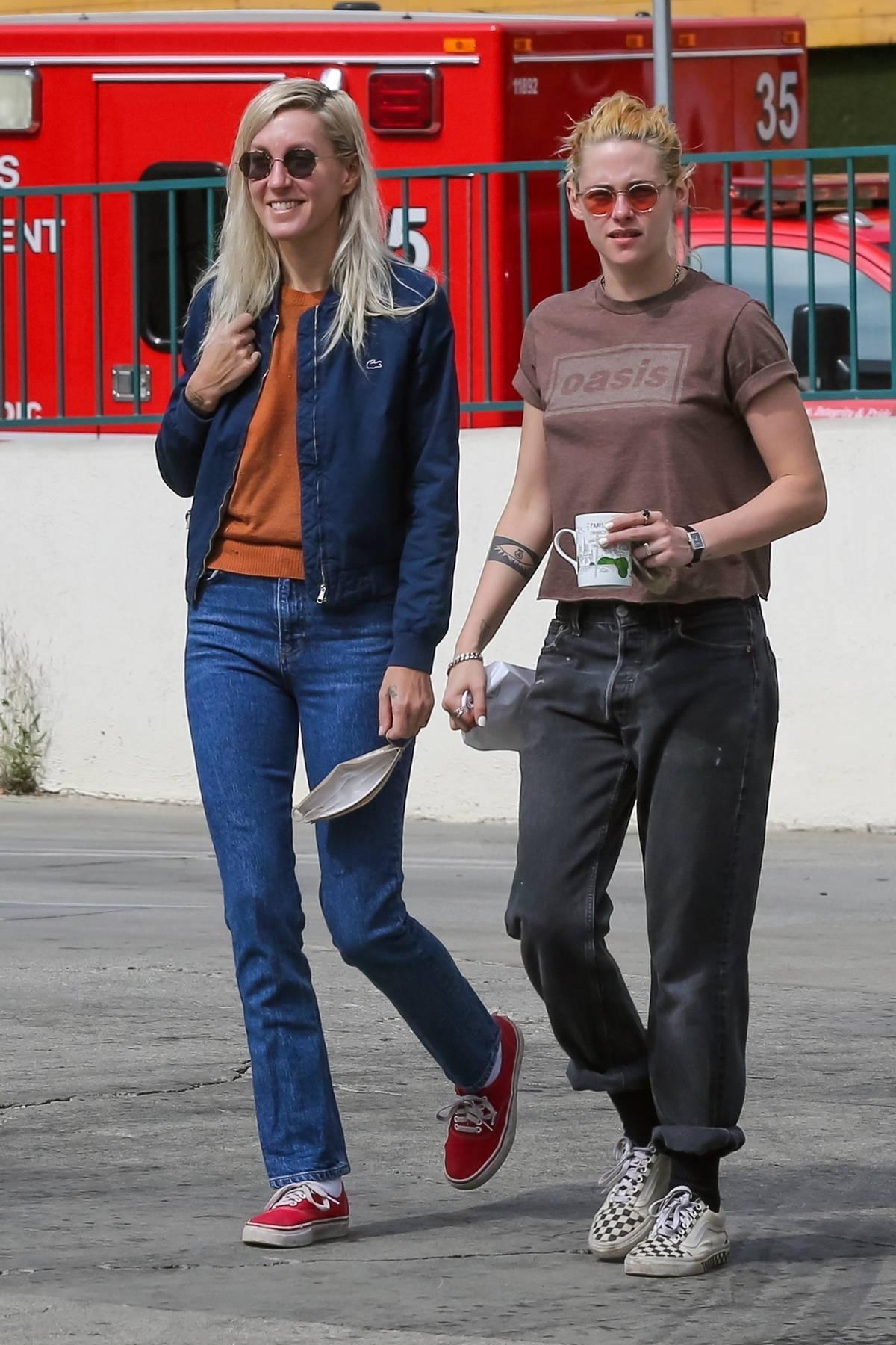 Kristen Stewart and girlfriend Dylan Meyer stop by MOTA in Los Angeles