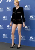 Kristen Stewart attends the photocall of 'Spencer' during the 78th Venice International Film Festival in Venice, Italy