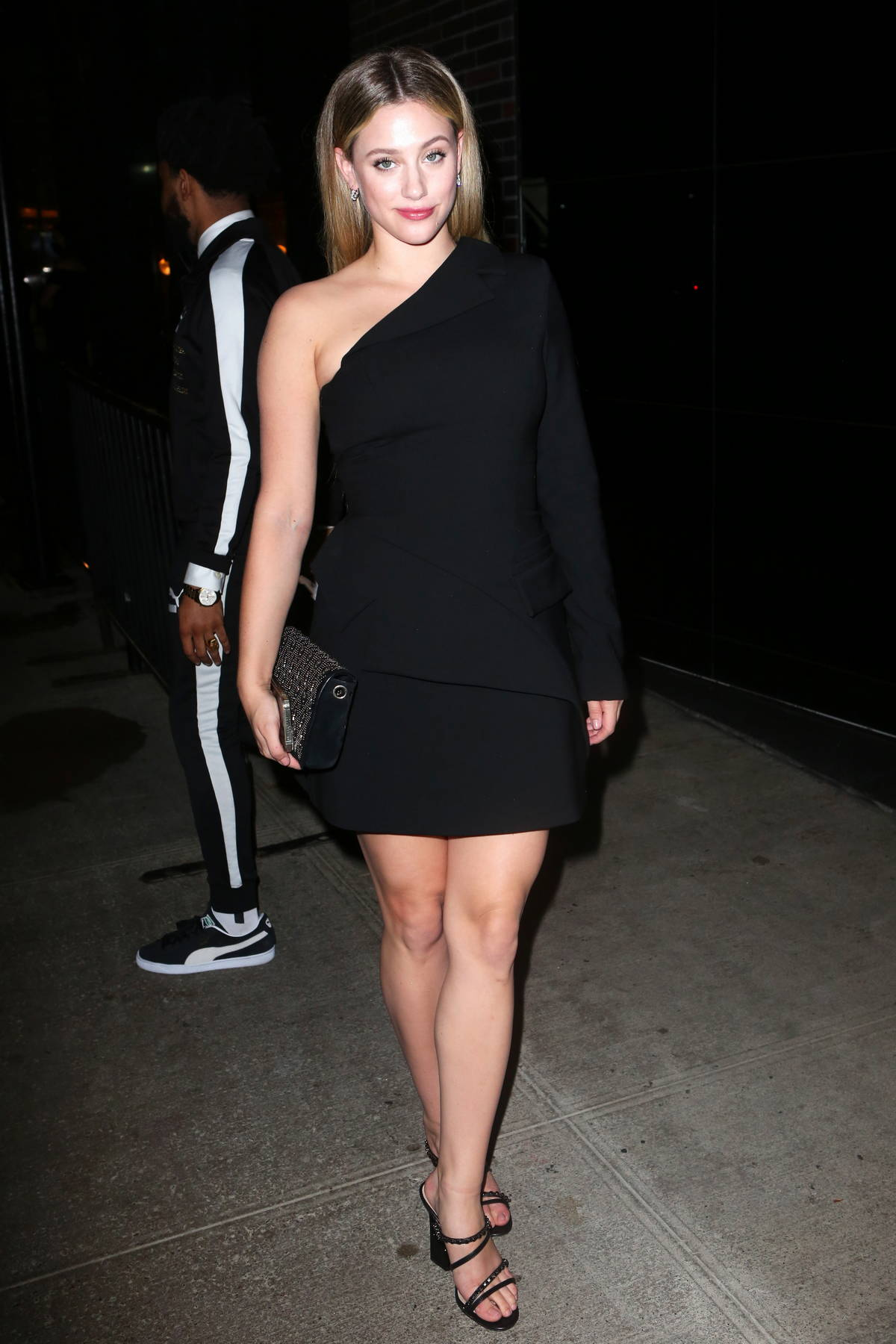 Lili Reinhart looks stylish in black while attending a Met Gala after-party in New York City