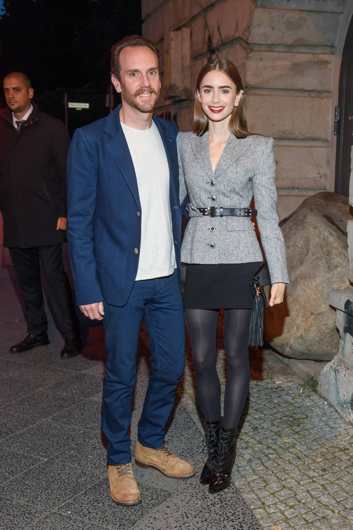 Lily Collins and Chalie McDowell attend the Cartier Clash dinner in Berlin, Germany