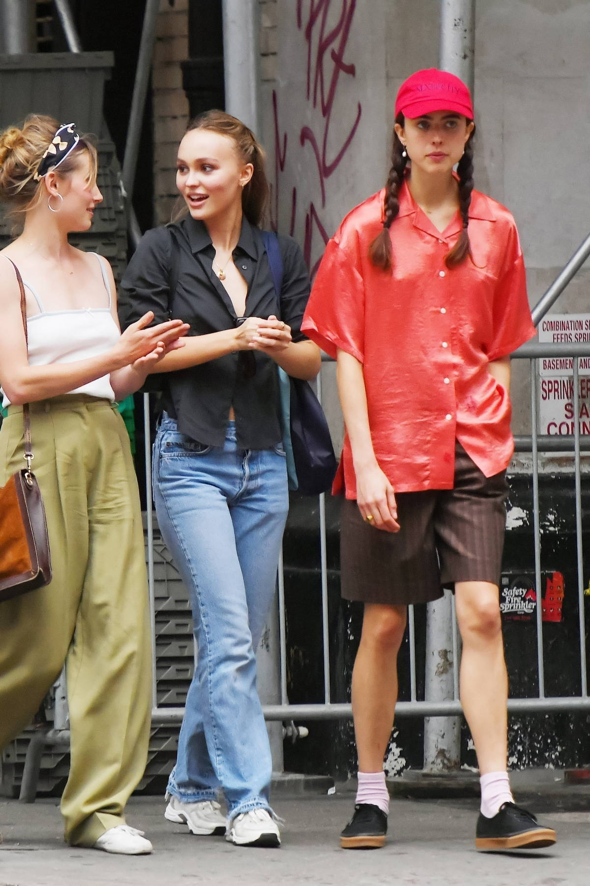 Lily-Rose Depp and Margaret Qualley take a stroll through SoHo after a late lunch at Carbone in New York City