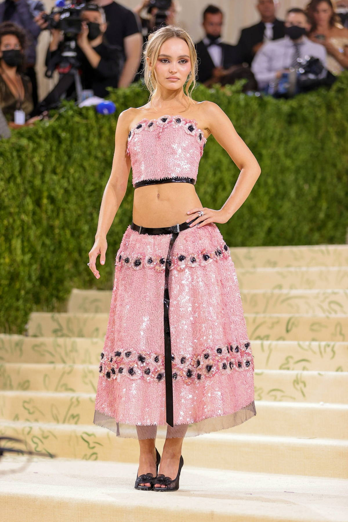 Lily-Rose Depp attends The Met Gala Celebrating In America: A Lexicon Of Fashion at Metropolitan Museum of Art in New York City