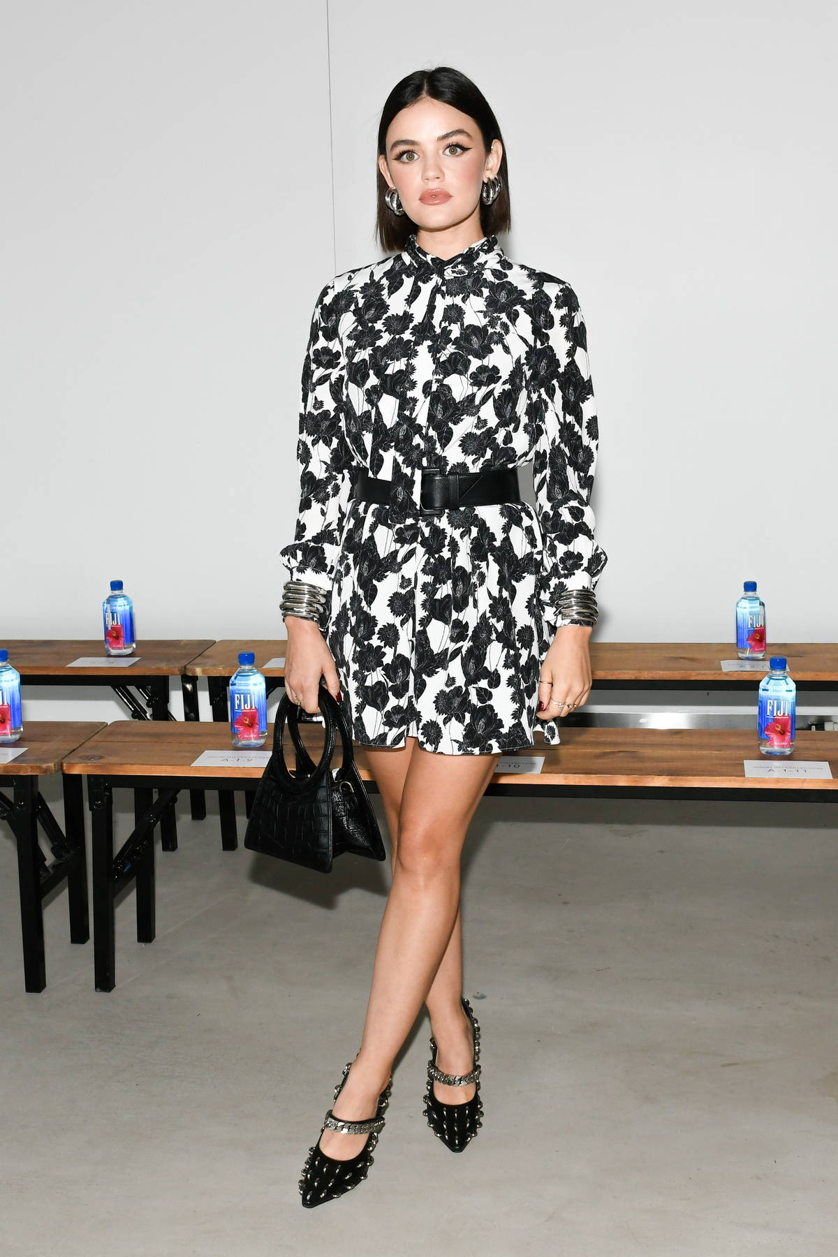 Lucy Hale attends the Jason Wu SS22 fashion show during New York Fashion Week in New York City