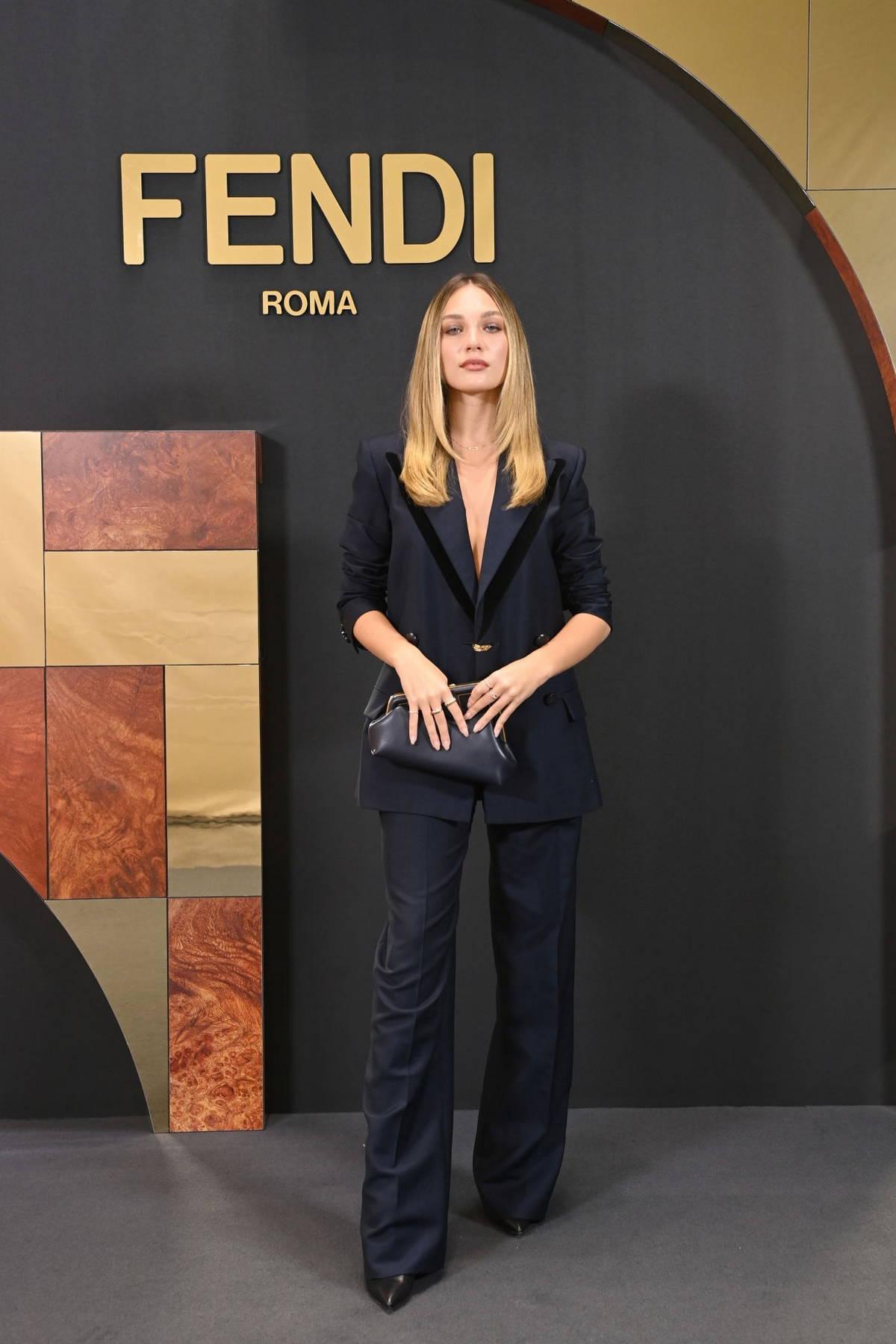 Maddie Ziegler attends Fendi Spring 2022 fashion show during Milan Fashion Week in Milan, Italy